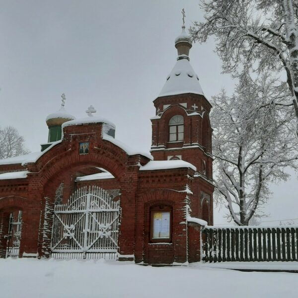 Alūksnes Svētās Trijādības pareizticīgo baznīca, ziema