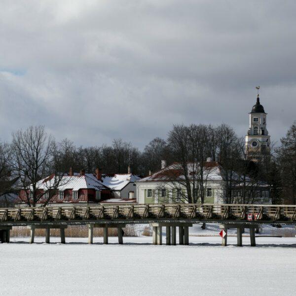 Alūksnes vecā pils, ziema