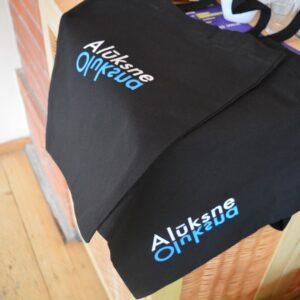 Auduma maisiņš ar Alūksnes logo (38x40 cm)