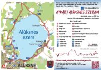 "Velokarte 129. velomaršrutam ""Apkārt Alūksnes ezeram"""