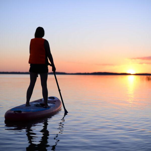 Vakars uz Alūksnes ezera